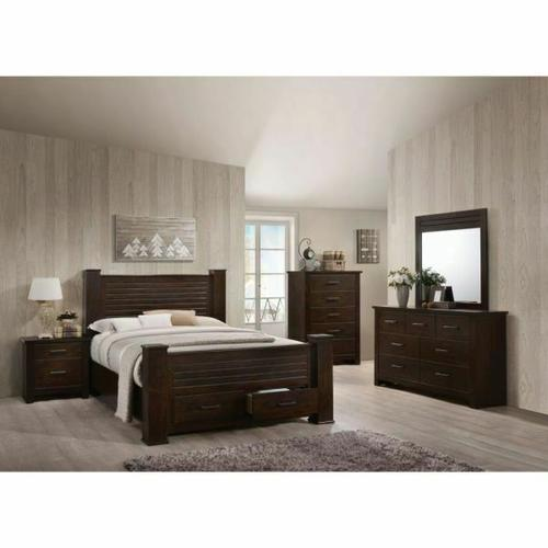 ACME Panang Queen Bed w/Storage - 23370Q - Mahogany