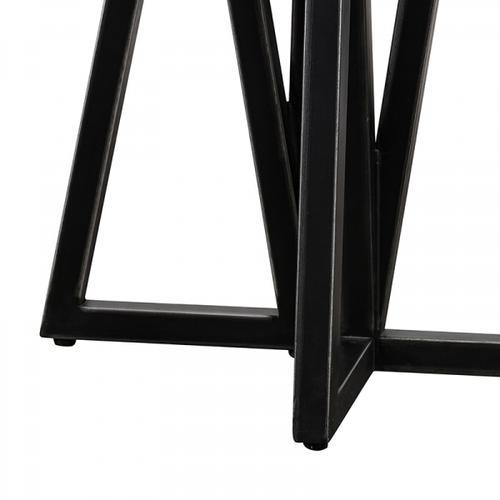 VIG Furniture - Modrest Richmond Modern Concrete & Black Metal End Table