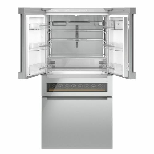 800 Series French Door Bottom Mount Refrigerator 36'' Easy clean stainless steel B36CL81ENG