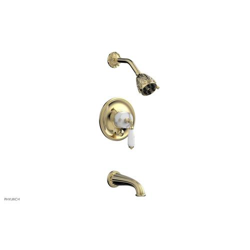 VALENCIA Pressure Balance Tub and Shower Set PB2338B - Polished Brass Uncoated