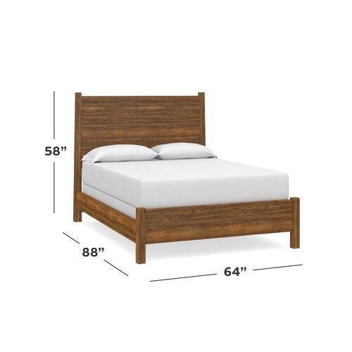Bassett Furniture - Heritage Maple Panel Headboard Queen, Footboard None