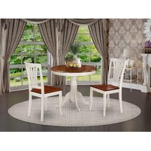3 Pc small Kitchen Table and Chairs set-small Table plus 2 Dining Chairs