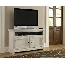 "54"" Console - Distressed White Finish"