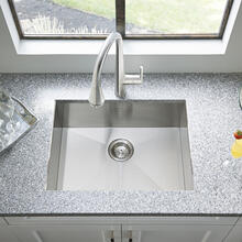 """View Product - Edgewater 25x22"""" ADA Single Bowl Stainless Steel Kitchen Sink  American Standard - Stainless Steel"""