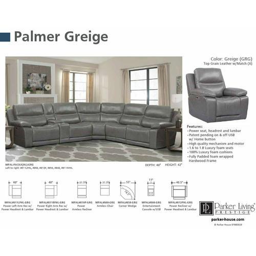 PALMER - GREIGE Armless Recliner
