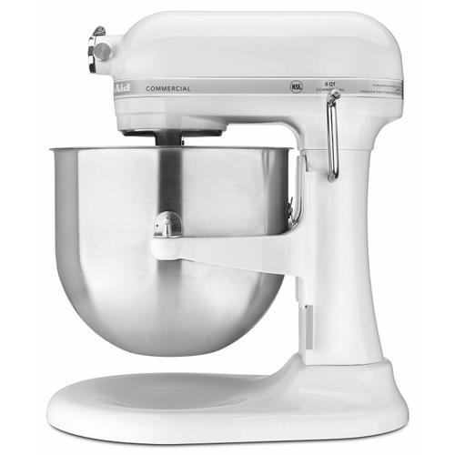 Gallery - NSF Certified® Commercial Series 8-Qt Bowl Lift Stand Mixer - White