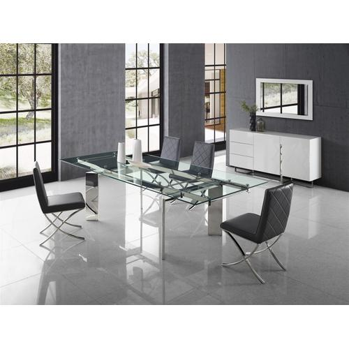The Loft Dark Gray Eco-leather Dining Chairs