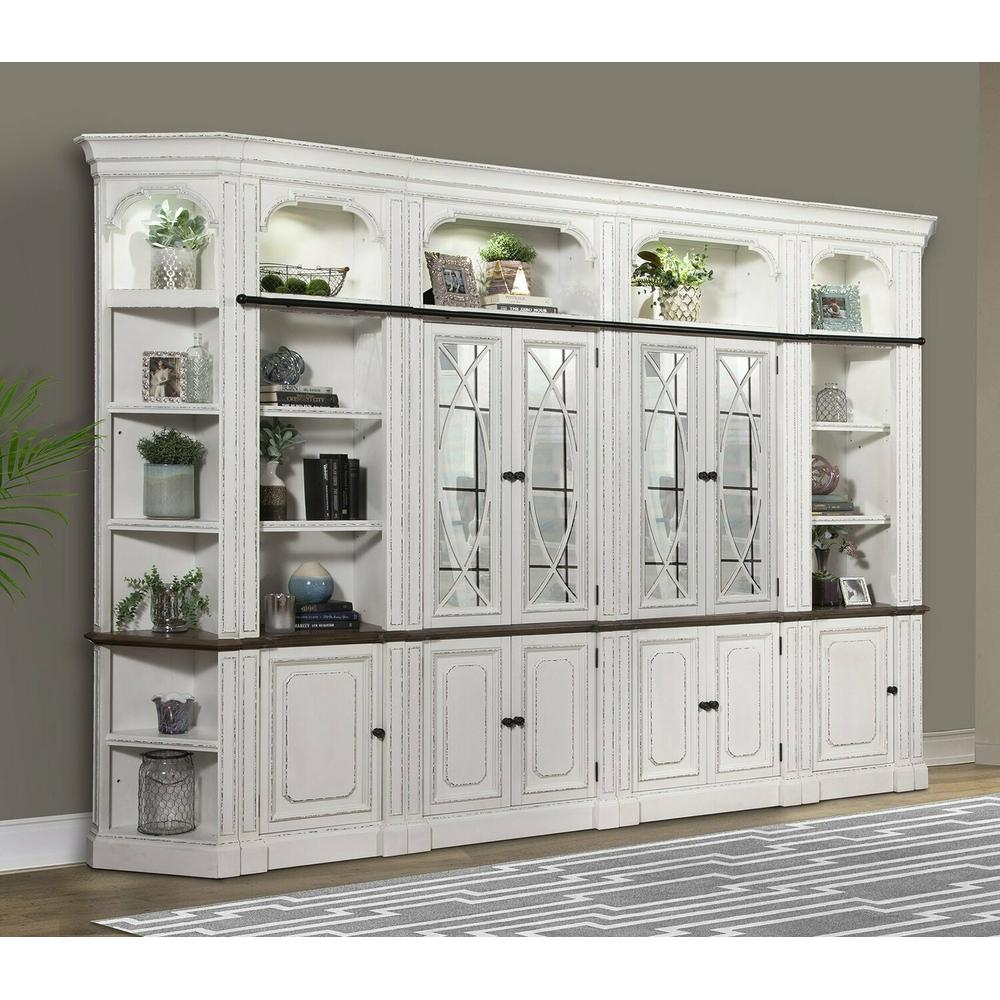 See Details - PROVENCE 6pc Glass Bookcase Library Wall