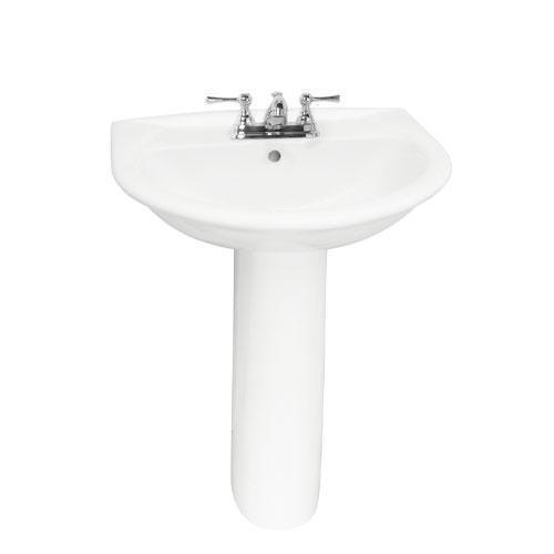 "Karla 605 Pedestal Lavatory - 4"" Centerset"