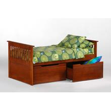 View Product - Ginger Captains Bed in Cherry finish