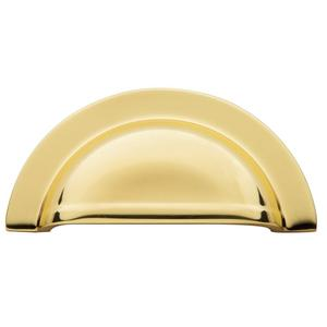 Polished Brass Cup Pull Product Image