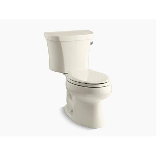 """Kohler - Almond Two-piece Elongated 1.28 Gpf Toilet With Right-hand Trip Lever, Insulated Tank and 14"""" Rough-in"""
