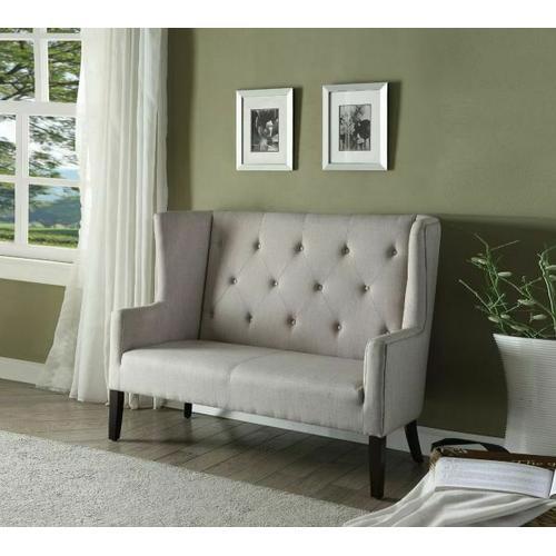 Acme Furniture Inc - ACME Najia Settee - 57255 - Beige Fabric & Espresso