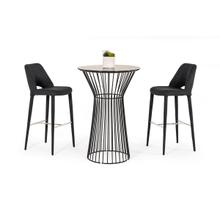 View Product - Modrest Graph Modern Black Round Bar Table