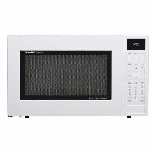 Sharp Appliances 1.5 cu. ft. 900W Sharp White Carousel Convection + Microwave Oven