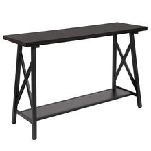 Rustic Espresso Wood Finish Console Table