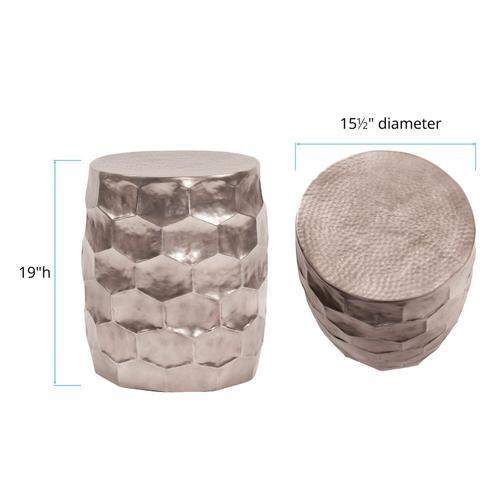 Howard Elliott - Hammered Aluminum Graphite Stool