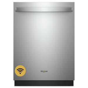 Whirlpool Smart Dishwasher with Stainless Steel Tub Fingerprint Resistant Stainless Steel