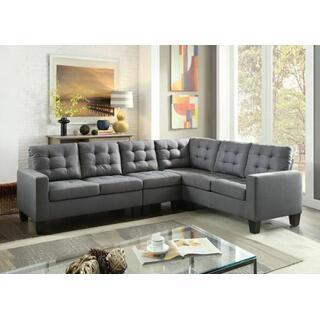 ACME Earsom Sectional Sofa - 52760 - Gray Linen