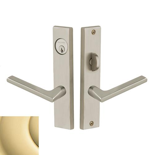 Polished Brass Detroit Escutcheon Entrance Set