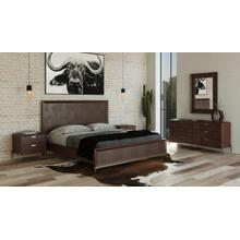 View Product - Modrest Shane - Modern Acacia & Brass Bed