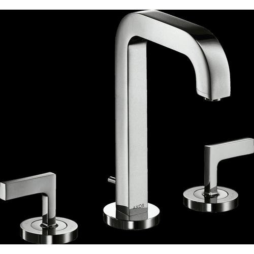 AXOR - Chrome Widespread Faucet 170 with Lever Handles and Pop-Up Drain, 1.2 GPM