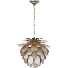 View Product - E. F. Chapman Cynara 1 Light 17 inch Burnished Silver Leaf Chandelier Ceiling Light, Small