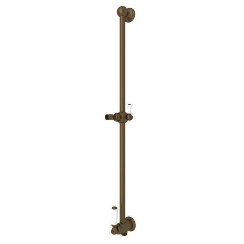 Edwardian Shower Bar with Integrated Volume Control and Outlet - English Bronze