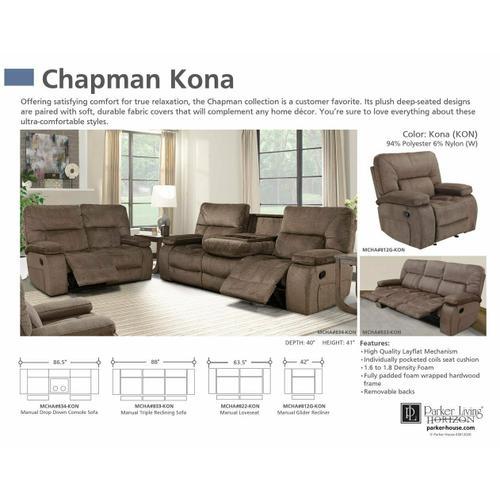 Product Image - CHAPMAN - KONA Manual Glider Recliner