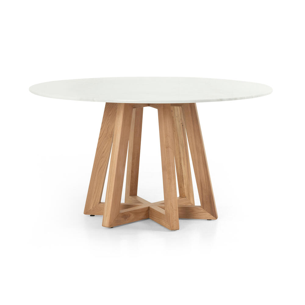 See Details - Creston Dining Table-white Marble