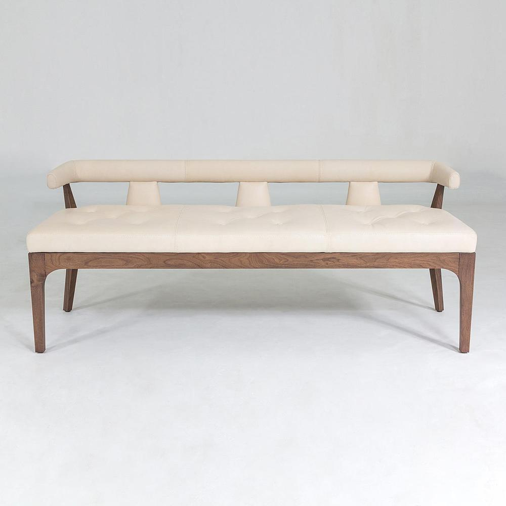 See Details - Moderno Bench-Ivory Marble Leather
