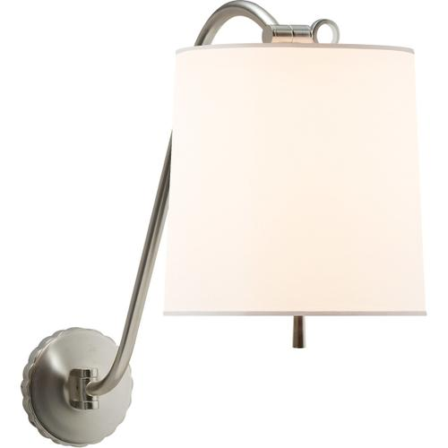 Barbara Barry Understudy 1 Light 10 inch Soft Silver Decorative Wall Light