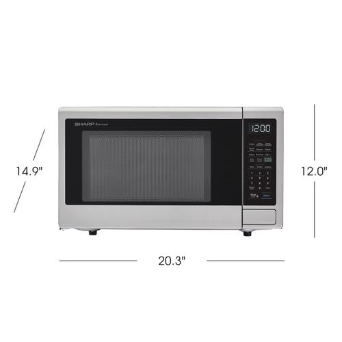1.1 cu. ft. 1000W Sharp Stainless Steel Smart Carousel Countertop Microwave Oven