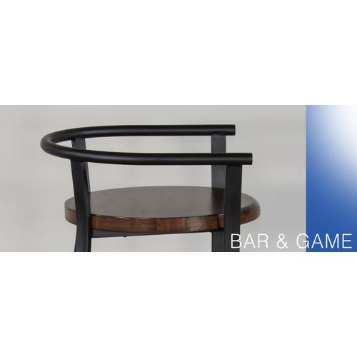 "30""H Barstool, Wood Seat"