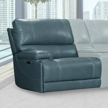 View Product - WHITMAN - VERONA AZURE - Powered By FreeMotion Power Cordless Left Arm Facing Recliner