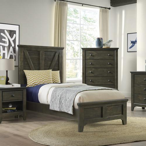 Tahoe Youth Twin Panel Bed  River Rock