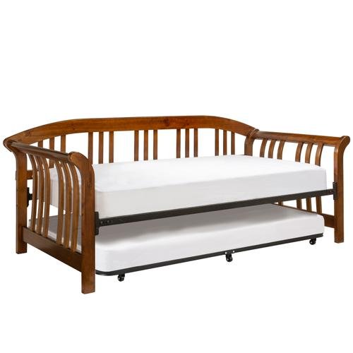 Dorchester Wood Daybed With Roll-out Trundle, Walnut