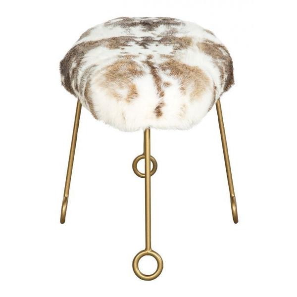 See Details - Furry Oval Ottoman
