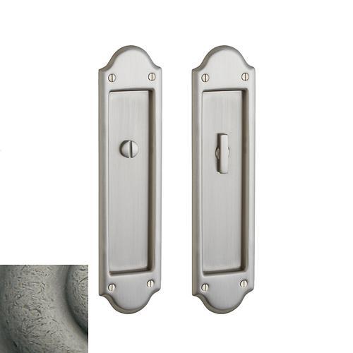 Baldwin - Distressed Antique Nickel PD016 Boulder Pocket Door