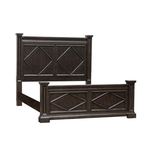 Canyon Creek Queen & 6/6 Set of Side Rails in Brown