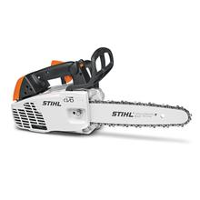A top-handle chainsaw that delivers the performance tree care professionals need to spend more time working and less time fueling.