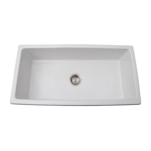 "Hillary 36"" Fluted Single Bowl Farmer Sink"