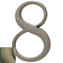 Satin Brass and Black House Number - 8