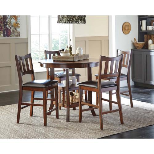 Renaburg - Medium Brown 5 Piece Dining Room Set