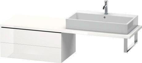 Low Cabinet For Console, White High Gloss (decor)