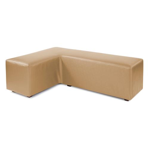 L Ottoman Luxe Gold Cover (Cover Only)