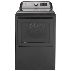 GE®7.4 cu. ft. Capacity aluminized alloy drum Electric Dryer with Sanitize Cycle and Sensor Dry