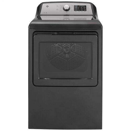 GE® 7.4 cu. ft. Capacity aluminized alloy drum Electric Dryer with Sanitize Cycle and HE Sensor Dry
