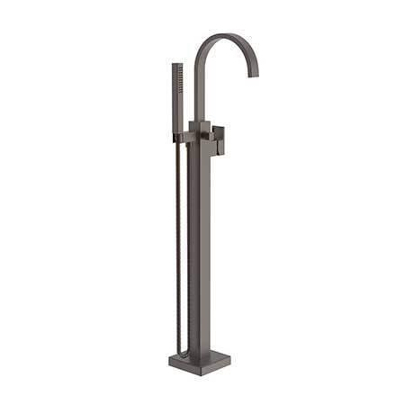 English Bronze Exposed Tub and Hand Shower Set - Free Standing
