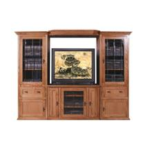 Forest Designs Mission Three Piece Wall & TV Stand - 43w